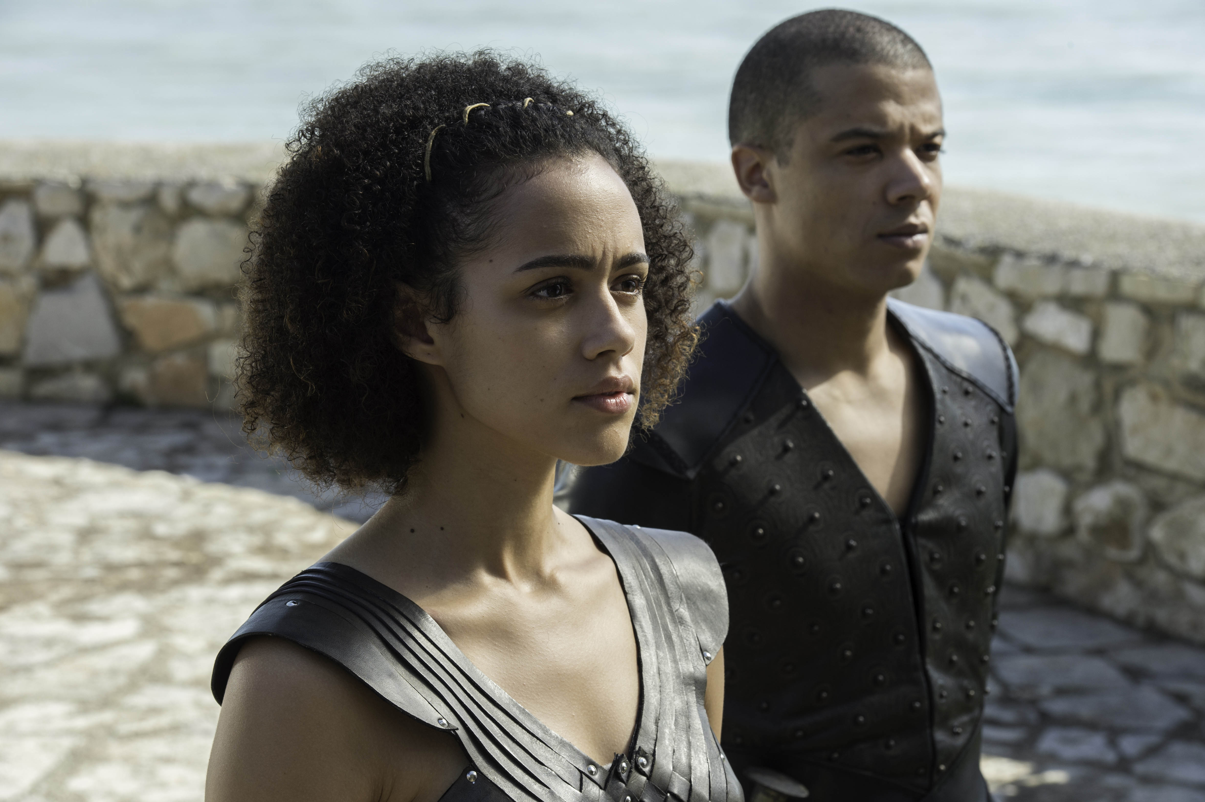 Greyworm and Missandei