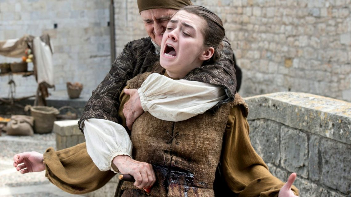 Arya getting stabbed.